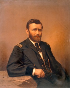 1867 Chromolithograph of Ulysses Grant by Fabronius, Gurney & Son.